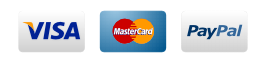 SSL Certificate. Paypal, Visa, American Express, Discover, Mastercard